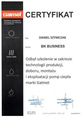 Certyfikat Galmet