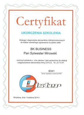 Certyfikat Elster