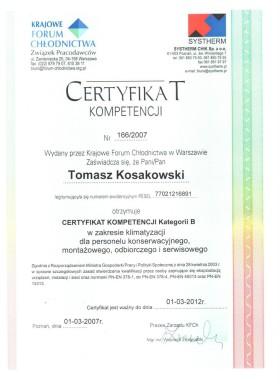 Certyfikat Kompetencji