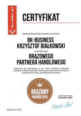 Certyfikat Kratki.pl