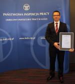 List gratulacyjny od Państwowej Inspekcji Pracy