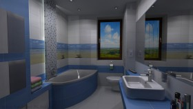 projekt łazienki 3