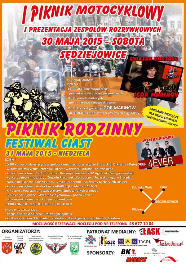 Piknik motocyklowy Sędziejowice 2015