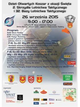 Program Piknik Lotniczy Łask 2015