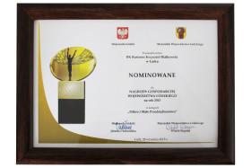 Nominacja do Nagrody Gospodarczej Województwa Łódzkiego 2015