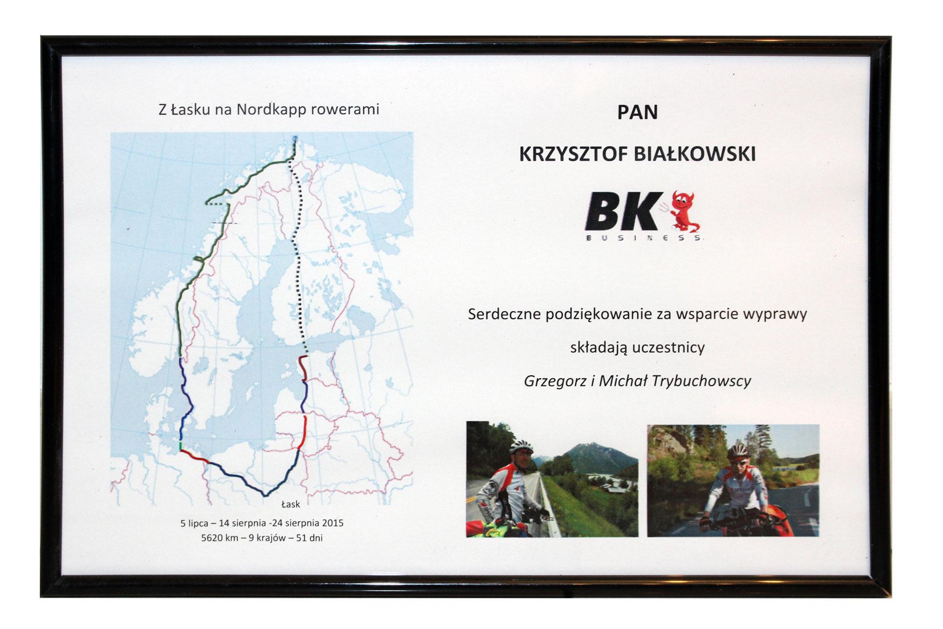 Z Łasku do Nordkapp rowerami