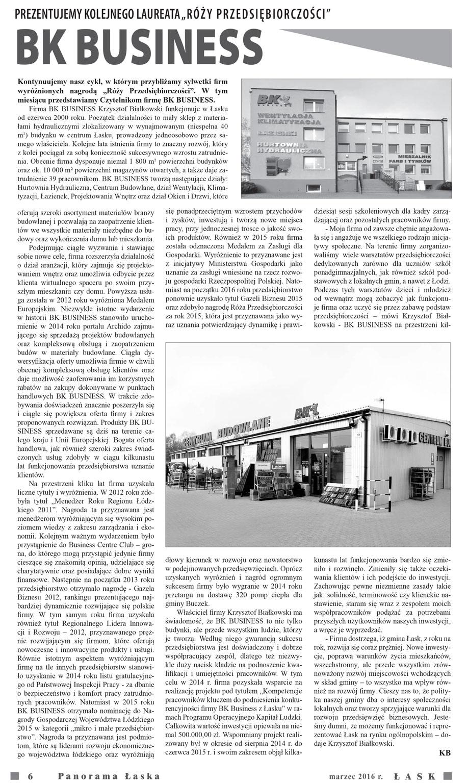 BK Business w Panoramie Łaskiej